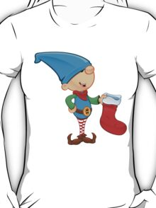 Elf Character - Holding A Stocking T-Shirt
