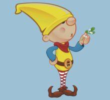 Elf Character - Holding Mistletoe Kids Tee
