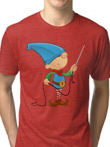 Elf Character - Needle & Thread Tri-blend T-Shirt