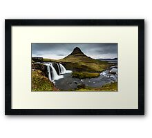Epic Adventure: Dawn at Kirkjufellfoss, Iceland Framed Print