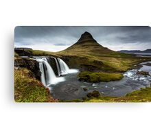 Epic Adventure: Dawn at Kirkjufellfoss, Iceland Canvas Print
