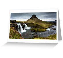 Epic Adventure: Dawn at Kirkjufellfoss, Iceland Greeting Card