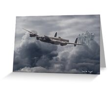 Avro Lancaster - Bomber Command Remembrance Greeting Card