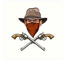 Bandit wit a Guns Art Print