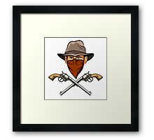 Bandit wit a Guns Framed Print