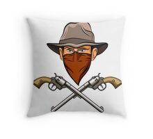Bandit wit a Guns Throw Pillow