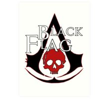 *NEW* ASSASSINS CREED, BLACK FLAG! EMBLEM AND SKULL. Art Print
