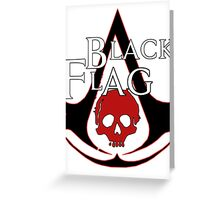 *NEW* ASSASSINS CREED, BLACK FLAG! EMBLEM AND SKULL. Greeting Card