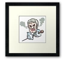 Angry man Framed Print