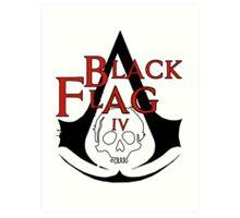 *NEW* ASSASSINS CREED, BLACK FLAG! EMBLEM AND SKULL. Art Print