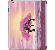 Fantasy landscape in yellow and pink colors iPad Case/Skin