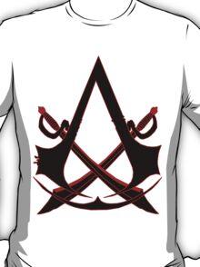 *NEW* ASSASSINS CREED, BLACK FLAG! EMBLEM AND SKULL. T-Shirt