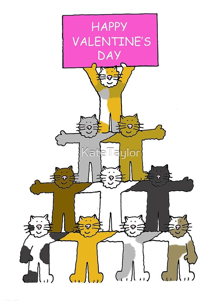 Cats Happy Valentine's Day by KateTaylor