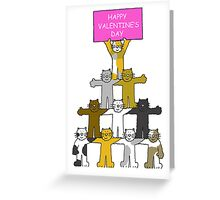 Cats Happy Valentine's Day Greeting Card