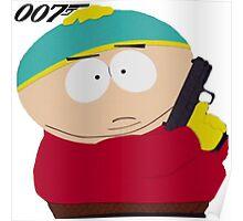 South Park|James Bond|Erica Cartman|007 Poster