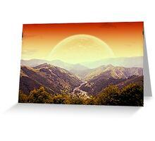 Highlands sunset Greeting Card