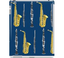 Musical Instruments on Royal Blue Background Christmas Gift Idea iPad Case/Skin