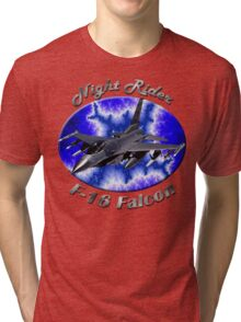 F-16 Falcon Night Rider Tri-blend T-Shirt