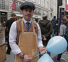 An Able removal man at the Regent Street Motor Show 2013, by Keith Larby