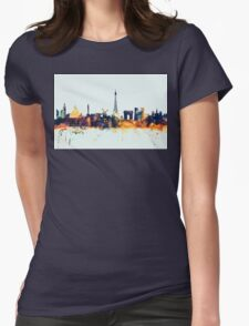 Paris France Skyline Womens Fitted T-Shirt