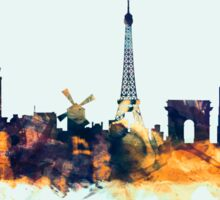 Paris France Skyline Sticker