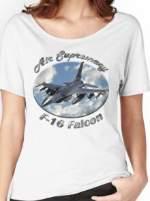 F-16 Falcon Air Supremacy Women's Relaxed Fit T-Shirt