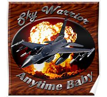 F-16 Falcon Sky Warrior Poster