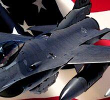 F-16 Falcon American Airpower Sticker