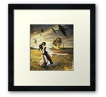 The Steampunk Warrior  Framed Print