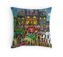 Super Mighty Boosh Throw Pillow