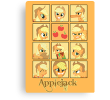 Faces of Applejack Canvas Print