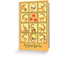 Faces of Applejack Greeting Card