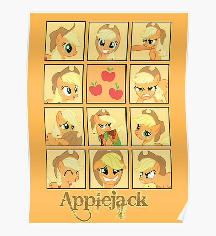 Faces of Applejack Poster