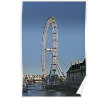 Blue sky over the London eye on the southbank in London Poster