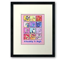 Friendship is Magic Framed Print