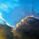Sun Behind Clouds by AbhishekAnand
