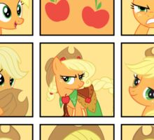 Faces of Applejack Sticker