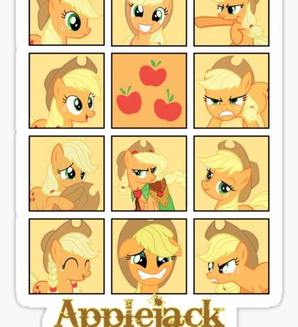 Faces of Applejack Sticker