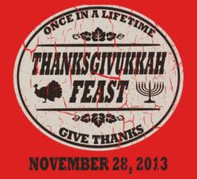 Vintage Once in a Lifetime Thanksgivukkah Kids Tee