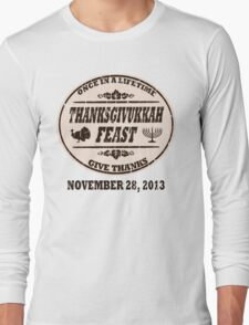 Vintage Once in a Lifetime Thanksgivukkah Long Sleeve T-Shirt