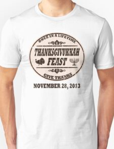 Vintage Once in a Lifetime Thanksgivukkah Unisex T-Shirt