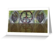 Still Hearts By Peace Greeting Card