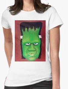 Frankenstien Original Art Print Womens Fitted T-Shirt