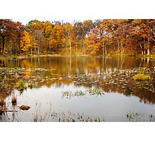 Finster Lake Fall Reflections  Photographic Print