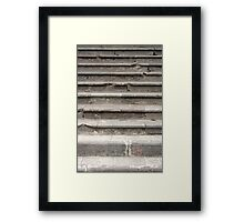 Cement Stairs Framed Print