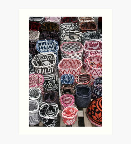 Knit Bags Art Print