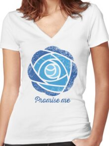 Promise Me Women's Fitted V-Neck T-Shirt