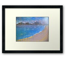 rainy day scene Framed Print