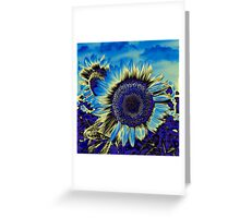 Blue Sunflower Greeting Card