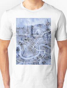 New Orleans Street Map Unisex T-Shirt